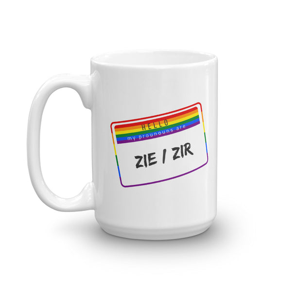 My Pronouns are Zie/Zir Mug - HavenTree - The Self Care Shop