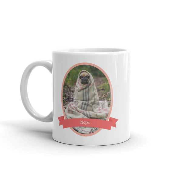 The Nope Pug Mug - HavenTree - The Self Care Shop