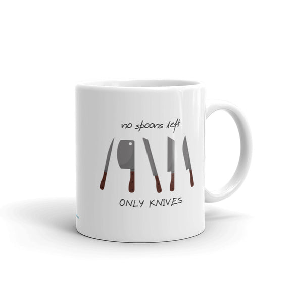 No Spoons Left, Only Knives Mug - HavenTree - The Self Care Shop