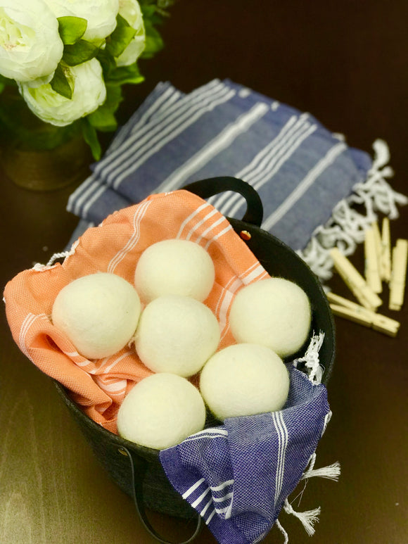 Organic Wool Dryer Balls -Set of 6 - HavenTree - The Self Care Shop