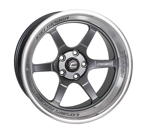 Cosmis Racing XT-006R Gun Metal w/ Machined Lip Wheel 18x11 +8mm 5x114.3