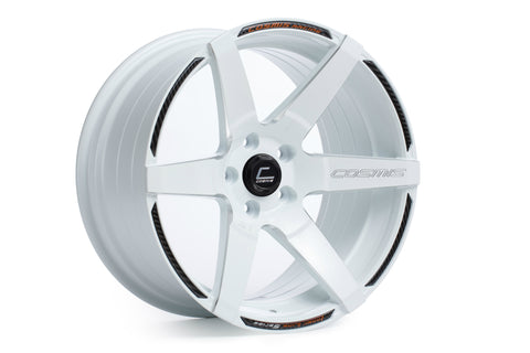 Cosmis Racing S1 White w/ Milled Spokes 18x9.5 +15mm 5x114.3 Wheel