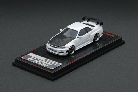 Ignition Model IG1868 Nismo R34 GT-R Z-tune White (1/64 Scale)