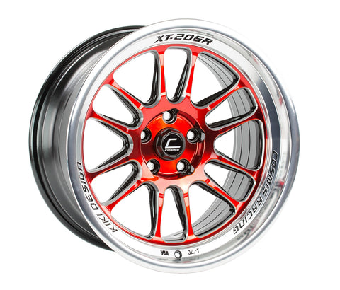 Cosmis Racing XT-206R Red w/ Machined Lip Wheel 18x11 +8mm 5x114.3