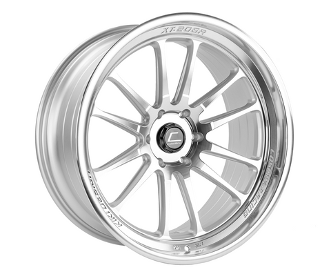 Cosmis Racing XT-206R Silver w/ Machined Face + Lip Wheel 22x10 +0mm 6×139.7
