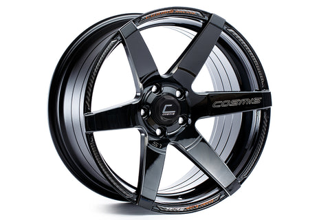 Cosmis Racing S1 Black w/ Milled Spokes 18x10.5 +5mm 5x114.3 Wheel
