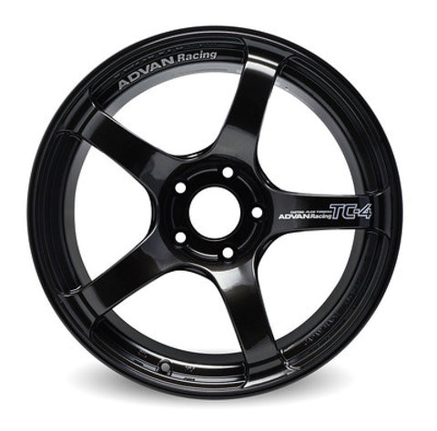 Advan TC4 15x8.0 +35 4-100 Black Gunmetallic Wheel (No Ring)