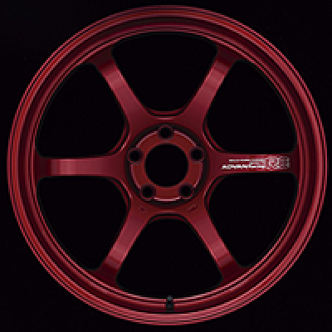 Advan R6 20x8.5 +38mm 5-114.3 Racing Candy Red Wheel
