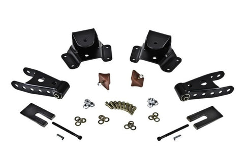 Belltech SHACKLE AND HANGER KIT 75-91 GM C30 CrewCab/Dually 4inch