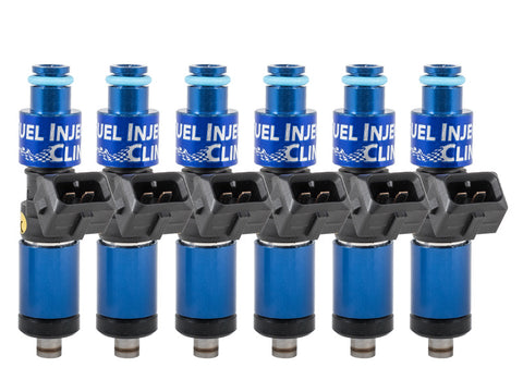 Nissan Skyline RB26 engine Top-feed Fuel Injector Clinic Injector Set: 6x1200cc Saturated / High Impedance Ball & Seat Injectors.