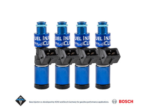 Scion Fuel Injector Clinic Injector Set: 4x1650cc Saturated / High Impedance Ball & Seat Injectors.