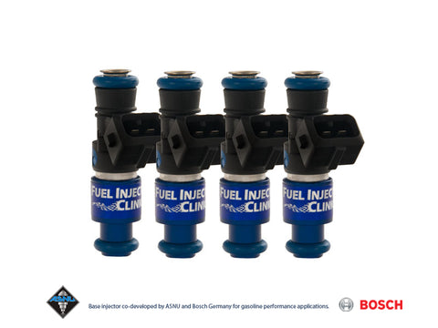 Hyundai Genesis 2.0T Fuel Injector Clinic Injector Set: 4x1650cc Saturated / High Impedance Ball & Seat Injectors.