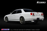 TOMEI FULL TITANIUM MUFFLER KIT EXPREME Ti Nissan Skyline R34 ER34 2 Door and 4 Door