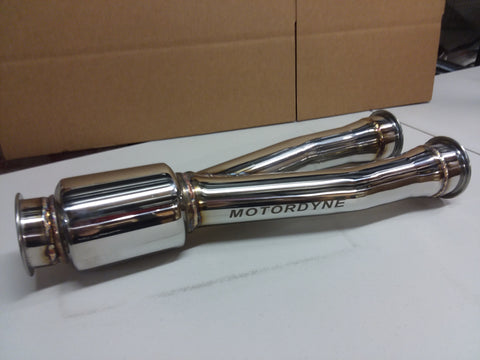 Motordyne Shockwave High Flow Resonated Muffler Delete Pipe 350Z/G35/370Z/G37/Q50/Q60