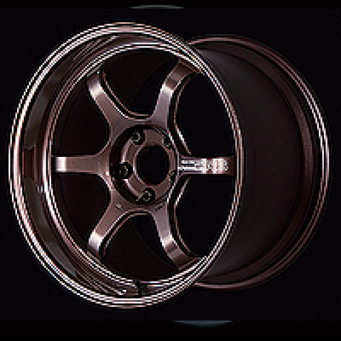 Advan R6 18x7.5 +47 5-114.3 Racing Copper Bronze Wheel