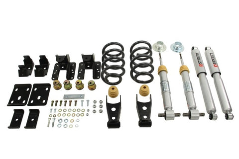 Belltech 14-17 Silver/Sierra Ext & Crew Cab 2wd 1 or 2in. F/4in. R Drop W/ SP Shocks Lowering Kits