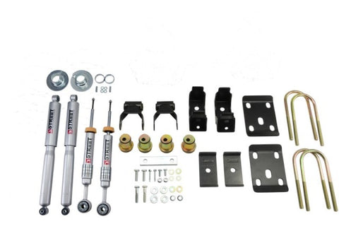 Belltech LOWERING KIT 14 Chev/GM Silverado/Sierra Std Cabs 2WD 0in to -4in Front/7in Rear with Shock