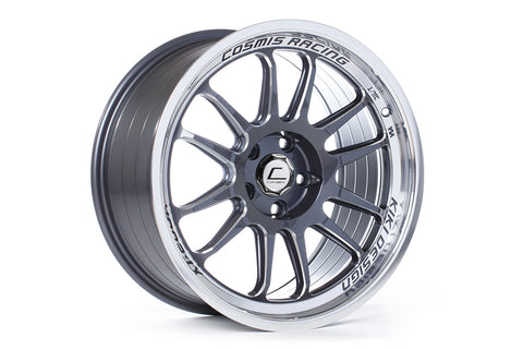Cosmis Racing XT-206R Gun Metal w/ Polished Lip 18x9 +33mm 5x114.3 Wheel