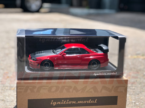 Ignition Model IG1831 Nismo R34 GT-R R-tune Red (1/18 Scale)