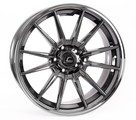 Cosmis Racing R1 Black Chrome Wheel 18x10.5 +32mm Offset 5x114.3