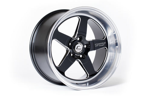 Cosmis Racing XT-005R Wheel Black w/ Machined Lip & Milled Spokes 18x10 +20mm 5x120