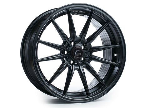 Cosmis Racing R1 Matte Black Wheel 18x9.5 +35mm 5x114.3