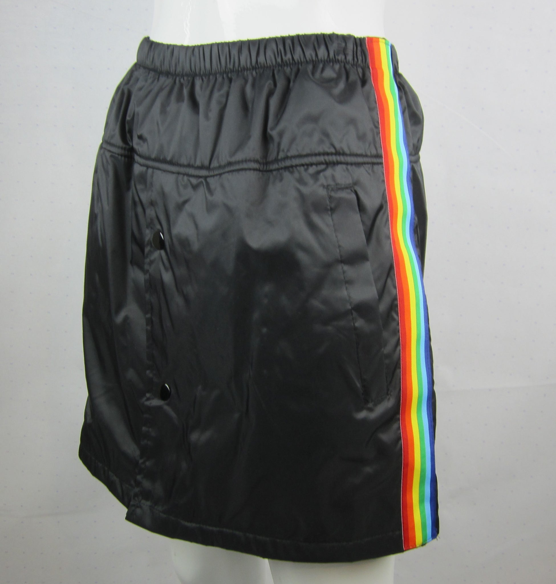 rainbow nylon skirt