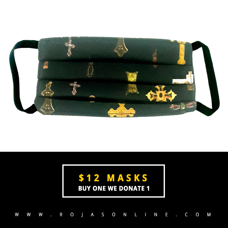 religious multi crosses face mask