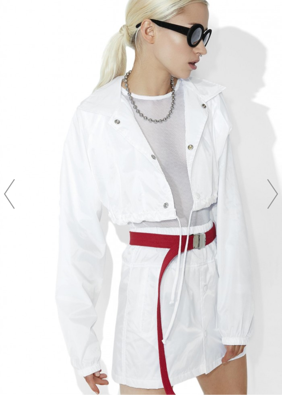 white crop coach jacket