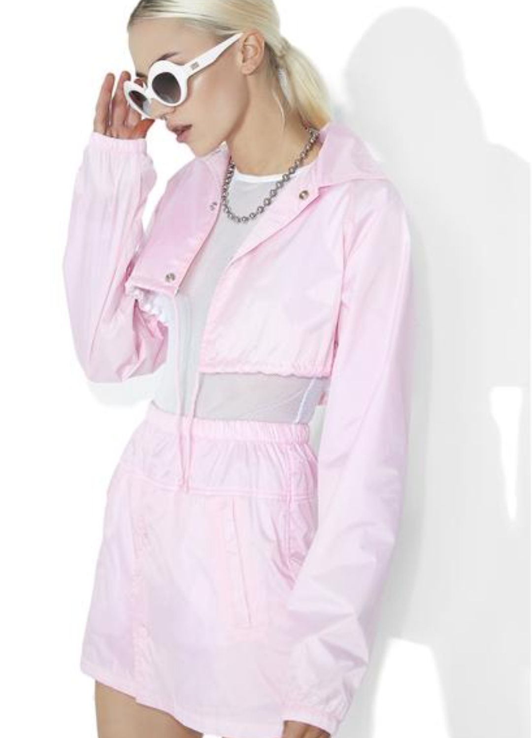 pink crop coach jacket