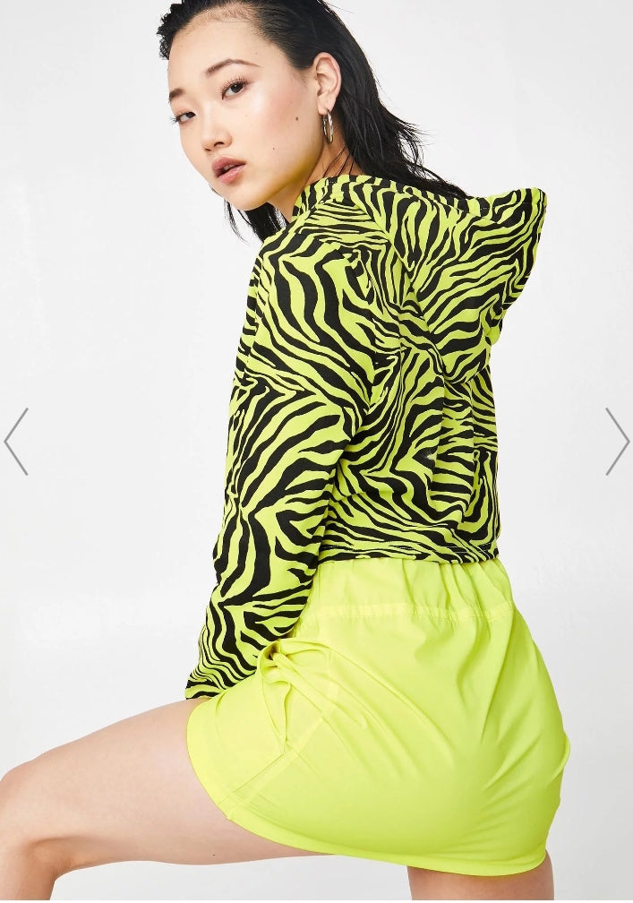 neon yellow reflective anorak skirt