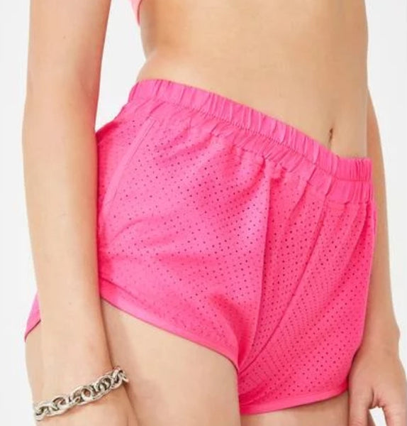 NEON PINK SHORTS