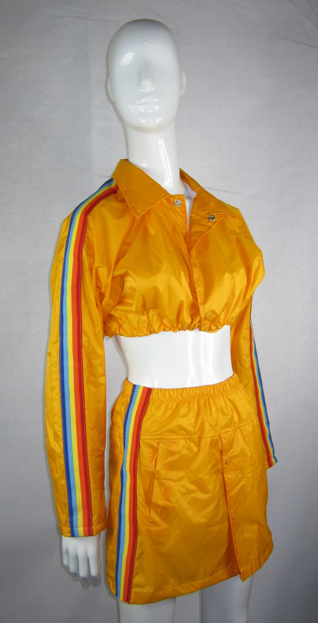 rainbow crop jacket