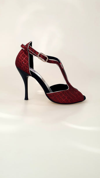 Fascino (401) - Scarpa da Donna in Sunset Rosso