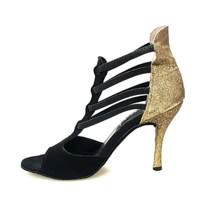 Wish Dance Shop 460 Camoscio Nero Glitter Oro