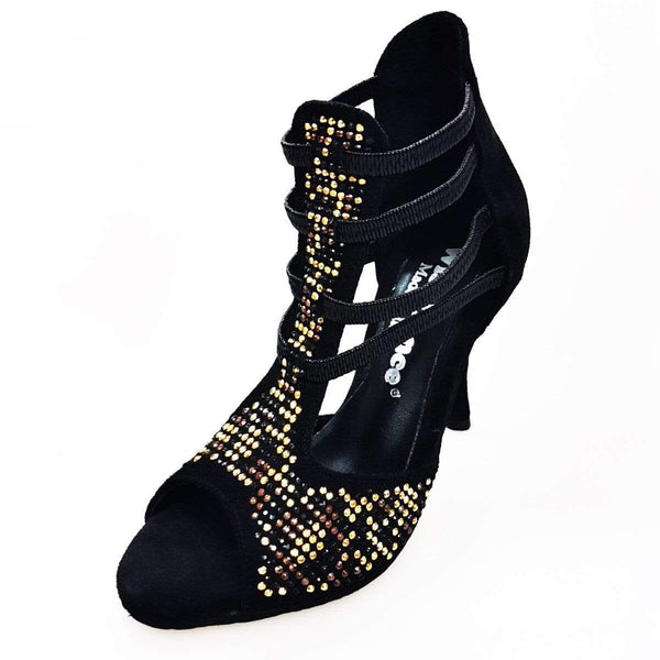 Wish Dance Shop 460 PW Camoscio Nero Livrea Leopard Oro