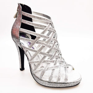 Wish Dance Shop Intrigo in Glitter Argento con Plateau