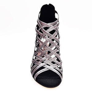 Wish Dance Shop Intrigo in Glitter Carbon e Fiorato Argento