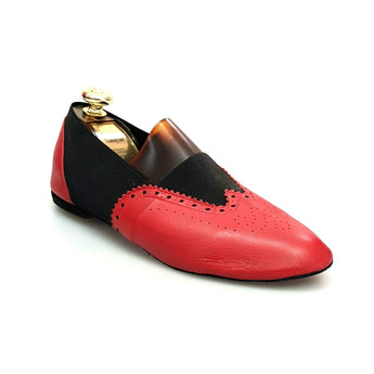 Wish Dance Shop Jazz 06 Pelle Rossa Elastico Nero