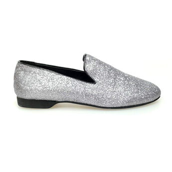 Wish Dance Shop Mocassino Uomo in Glitter Carbon