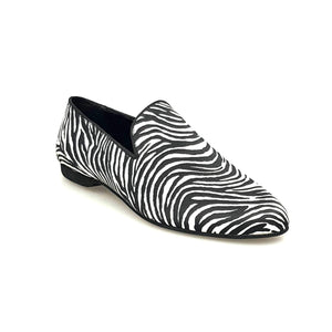 Wish Dance Shop Mocassino Uomo in Raso Zebra
