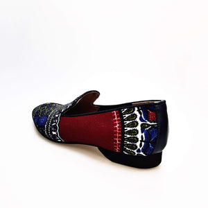 Wish Dance Shop Ms20 - Mocassino Dakar Blu Daishiki