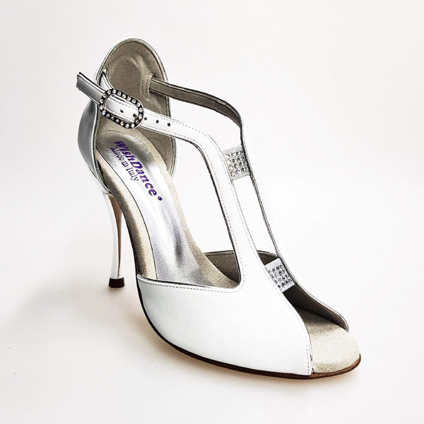 Wishdance Fascino - Scarpa da Donna in Pelle Bianca