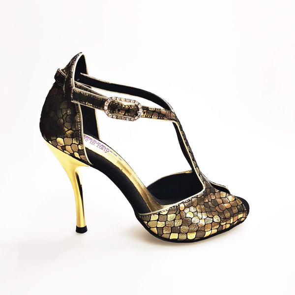 Wishdance Fascino - Scarpa da Donna in tessuto Scale Oro