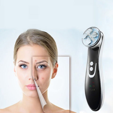 Image of RF Radio Frequency LED Photon Facial Skin Rejuvenation Device