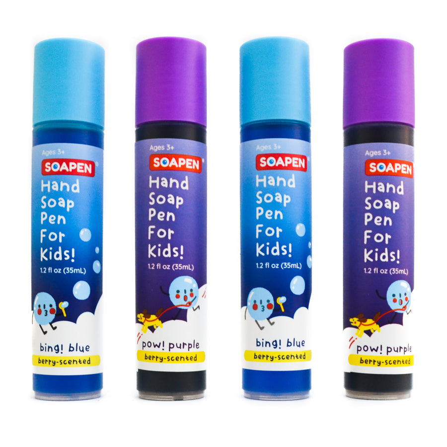 SoaPen Pack of 4 | Bing! Blue and Pow! Purple