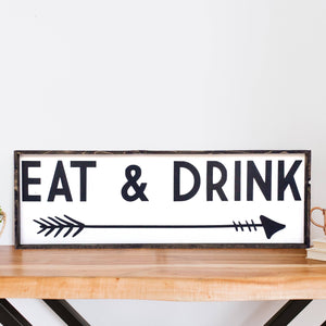 Eat & Drink | Wood Sign farmhouse signs, rustic signs, joanna gaines style signs, farmhouse decor, Farmhouse style