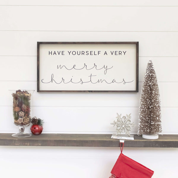 Have Yourself A Very Merry Christmas | Wood Sign farmhouse signs, rustic signs, joanna gaines style signs, farmhouse decor, Farmhouse style