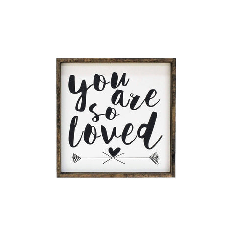 You Are So Loved | Wood Sign farmhouse signs, rustic signs, joanna gaines style signs, farmhouse decor, Farmhouse style