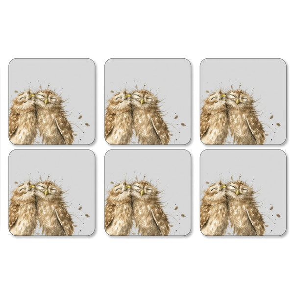 "Pimpernel - Wrendale Owl Coaster s/6 4"" x 4"" - Britannia Kitchen & Home Calgary"